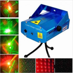 Luz Laser Multipunto Mini -sin Garantia- Azul       Stage Lighting-