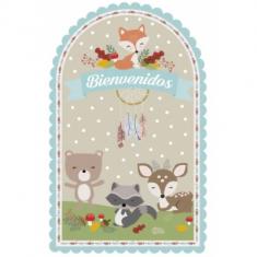 Bosque Poster Troquelado -                                                     Animalitos Del Bosque