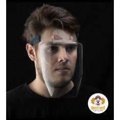 Mascara Proteccion X 10 - Proteccion Facial 180 - No Se Empaña - Puede Usarse Con Lentes - Comoda  - Ajustable Con Abrojo