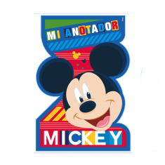 Mickey Co Anotador Con Forma X 8