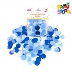 Confeti Circulos Caribe X 15 Gs-party Store- Tonos Celeste