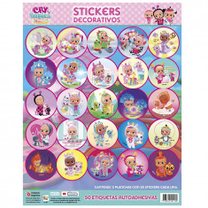 Cry Stickers 2 X 25 U. - 50 Stickers Decorativos - Babies