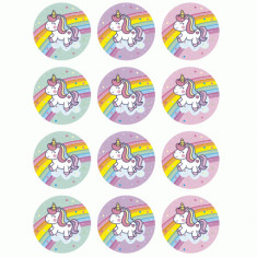 Unicornio Ai Stickers 12 X 10 Planchas - Gm Arco Iris Candy Bar