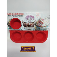 Silicona Molde Muffin X 6 Dos Lembas       Plancha