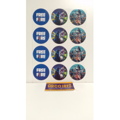 Free Fire Stickers 12 X 10 Planchas