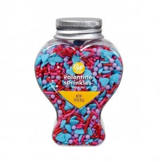 Sprinkles Valentine X 112 Gs. Wilton-corazones-mezcla De San Valentin-3.95 Oz-frasco Corazon-