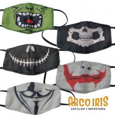 Tapaboca Halloween Mediano X 10 Surtidos En Bolsa