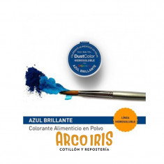Dust Color Hidrosoluble Azul Brillante X U.colorante Polvo Hidrosoluble                           Pascua