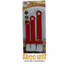 Set De Pinceles X 3 -pastry Brush Set-