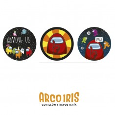Among Us Stickers 12 X 10 Planchas Candy Bar