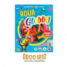 Bombitas Carn.globby 50 X 100 U.aqua Globby-super Resistentes-party Store-