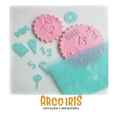 Cool Stamp-sellos Con Onda-mini Unicorn-la Botica