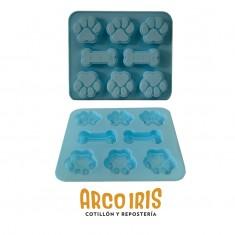 Silicona Molde Patitas/huesos  X 8 -plancha-
