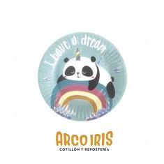 Panda Plato X 6 C/ St                                                     -party Store-