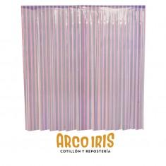 Cortina Plast. Combinada Rosa/lila X U  --2.2 M X 120 Cm--rondinella-