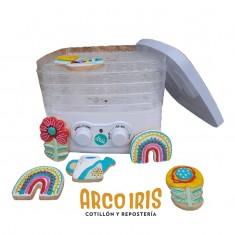 Deshidratador Pastelar Con 250watts De Potencia, 5 Bandejas De Plástico Transparente Rígido, Regulador De Temperatura Entre