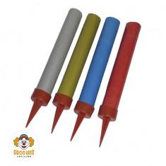 Bengala 9 Cm Lisa Color X 4 - 9cm.c/u - Fuegolandia  - Caja Blanca