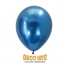 Chrome Azul Prusia 12´x 10 U.- Globo Metalico De Latex - Tuky