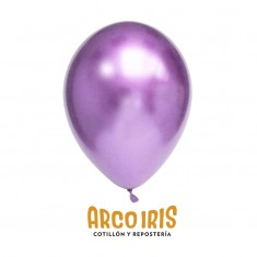 Globo Chrome 12 X10 Violeta - Fraccionado Arco Iris