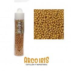 Drops Perlas Doradas Tubo X 50 G Vs Colores- Pastelar- Pastillaje Para Decoracion