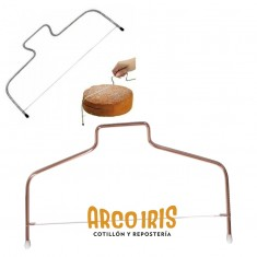 Alambre Cortante Para Tortas Rosa Gold-pastelar-ayudante De Cocina-corta Bizcochuelo