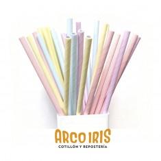 Tubo Papel Liso X 25 +10-5% - Colores Pastel Y Comunes / Kraf / Blanco / Rojo / Azul / Fucsia / Celeste / Lila / Amarillo / N