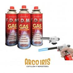 Gas Butano F.d.m. X U. 405 Ml Gas Propano - Garrafa Descartable