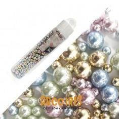 Drops Perlas Surtida Metal Tubo X 50 G Vs Colores- Pastelar- Pastillaje Para Decoracion