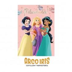 Princesas Co Afiche Feliz Cumple Xu