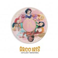 Princesas Co Plato Carton X 10