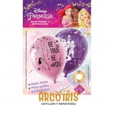 Princesas Co Globos Premium X 6 Latex 12 Impresion Total