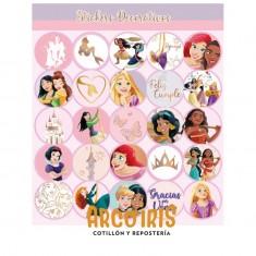 Princesas Co Stickers 2 X 12 U. - 24 Stickers Decorativos