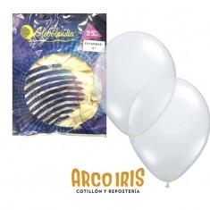 Globo Cristal 12 X 25 Estandar Transparente +10 -5% -globolandia -promo Por Cantidad