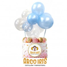 Adorno P/torta C/globos X U. - Incluye 10 Globos 5 + 2 Tubo De Papel + Cinta