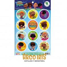 Rockers Stickers 2 X 25 U. - 50 Stickers Decorativos                                     Mini Beat Power Rockers