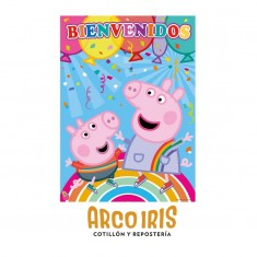 Pig Afiche Bienvenidos X U Peppa