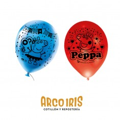 Peppa Pig Globos Premium X 6 Latex 12 Impresion Total