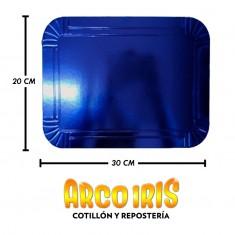 Bandeja Rect. 20 X 30 Cm Azul Metal Xu +10-10%                                            Promo Por Cantidad