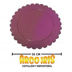 Bandeja Metal Rosa Gold Red.26 Cm X 10-