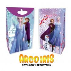 Frozen Co Bolsa Caramelera Papel X 8 Con Glitter