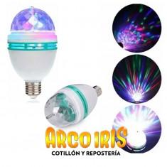 Luz Foco Giratorio -sin Garantia- Megatronik-lampara Led Efecto Luminoso