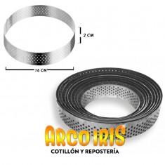 Aro Perforado Repostero 16 Cm-alto 2 Cm