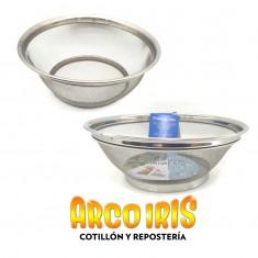 Cernidor Acero Inoxidable 22 Cm Diam.x U-colador- -stainless Steel-taller Brim Basket-