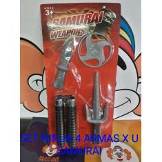 Set Ninja 4 Armas X U -samurai -