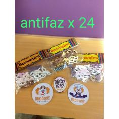 Antifaz X 24 P/souvenir -doradas/plateadas -
