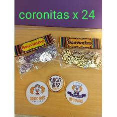 Coronitas X 24 -doradas/plateadas -coronitas-rey-reina-