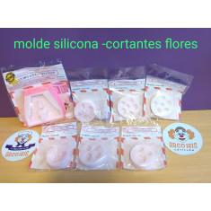 Molde Silicona Flores Y Hoja- Cfmo1007- Cortantes Flores