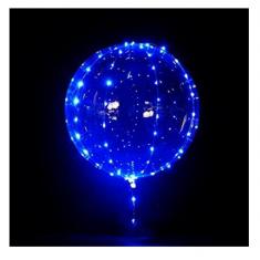 Burbuja Led Kit Globo Y Luces X U. -party Store- Azul - Blanca - Multicolor