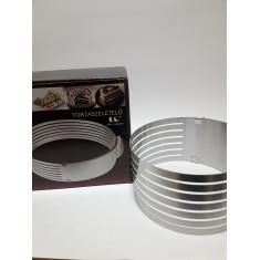 Aro C/guias Ajustable De 16 Cm A 20 Cm -acero-                   -tortaszeletelo-