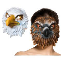 Goma Eva Mascara Grande Animales C/pelo Xu - Lobo/aguila/leon